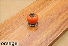danspeed Vintage rund Keramik Schublade Knopf Schrank Küche Tür Pull Griff Decor Orange