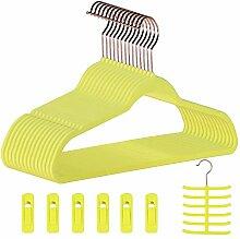 Dantly Premium Samt Anzug-Kleiderbügel,