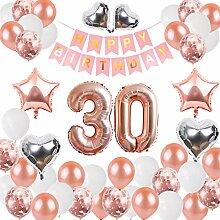 DANXIAN 30. Geburtstag Dekorationen Banner Ballon,