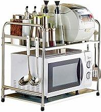 Daozne® Küchenregal Mikrowelle Regal (zwei Ablage)