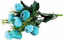 Dapeng 10Köpfe Künstliche Seide Fake Blumen