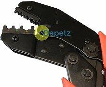 dapetz® 22,9cm Ratsche Crimpzange für Terminals, Ratschenmechanismus-Crimper Zange Drah