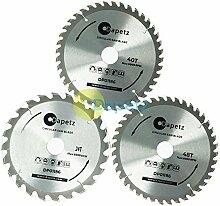 dapetz® 3x Kreissägeblätter 235mm Dia 2440&