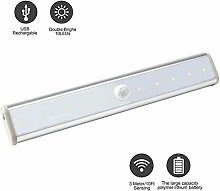 Daping LED Schrankbeleuchtung Nachtlichter mit Bewegungsmelder Motion Sensing-Licht Schrankbeleuchtung Ideal für Badezimmer Kabinett Dachböden Garagen Treppe Bar Nachtlicht Wandleuchte