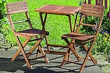 Dapo Lounge Set Remo Tischset aus Holz ein Tisch +