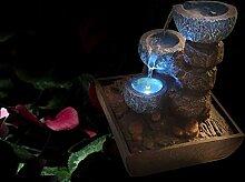 Dapo Zimmerbrunnen Tischbrunnen mit LED