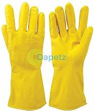 daptez® 1x gelb Reinigung Latex Handschuhe Texturierte Griff Flock Gefüttert Auto waschen Haushal