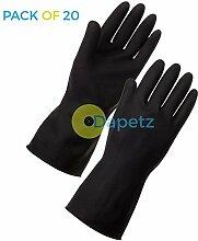 daptez-Lange Ärmel Schwarz Reinigung Handschuhe Medium Reinigung Auto waschen Haushal