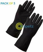 daptez-Lange Ärmel Schwarz Reinigung Handschuhe XL Reinigung Auto waschen Haushal