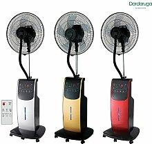 DARDARUGA Digitaler Ventilator mit Zerstäuber Wasser WFD gold