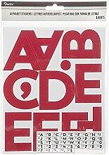Darice Aufkleber, selbstklebend, Alphabet, Rot,