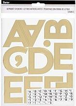 Darice Gold Alphabet Aufkleber, 148 Stück