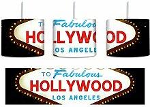 Dark Farbenfrohes Hollywood Ortseingangsschild