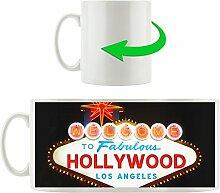 Dark Hollywood Ortseingangsschild, Motivtasse aus