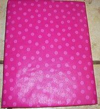 Dark Pink Polka Dot Tischdecke 132,1x 177,8cm