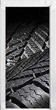 Dark Reifen als Türtapete, Format: 200x90cm,