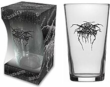 Darkthrone Dark Throne BIERGLAS/Beer Glass Logo -