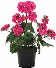 DARO DEKO Kunst-Blume Geranie Stehend 1 Stück Pink
