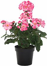 DARO DEKO Kunst-Blume Geranie Stehend 1 Stück Rosa