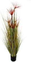 DARO DEKO Kunst-Pflanze Gras im Topf Papyrus Gras
