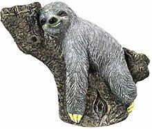 DARO DEKO Tier Figur in Stein-Optik Faultier auf
