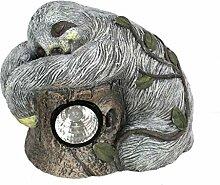 DARO DEKO Tier Figur in Stein-Optik Faultier mit