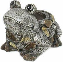 DARO DEKO Tier Figur in Stein-Optik Frosch mit