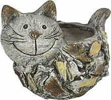 DARO DEKO Tier Figur in Stein-Optik Katze mit