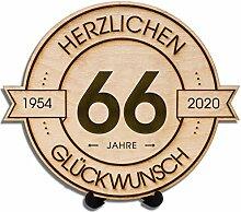 DARO Design - Holzscheibe graviert - 66 Jahre -