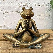 Darthome Ltd Gold Yoga Frosch Kröte Haus Garten