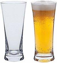Dartington-Bar-Bier-Glas, transparent, 2Stück