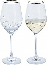 Dartington Crystal Glitz Weinglas, Kristall,