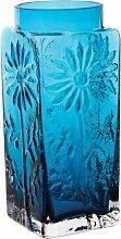 Dartington Crystal Große Vase mit Blumenmotiv,