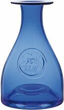 Dartington Crystal Primrose Bottle Blumenvase, blau