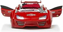 Das Beste Autobett Kinderbett GT 999 in rot mit
