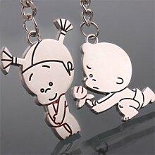 Das kreative Männer Schlüsselanhänger süße kleine Geschenk Freunde Geschenk Paare key ring (A), der vorgeschlagenen
