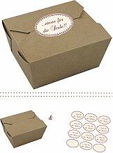 das-label | 10 x Geschenkboxen aus braunen