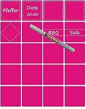 das-label Aufkleber | 20 Vintage Design No.6 pink matt | inkl. wasserfesten Edding | Valentinstag | Muttertag | Scrapbook | Geburtstag | Geschenke | zum bekleben von Autos | Tüten | Geschenkkartons | selbstklebende Markierungspunkte