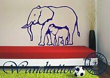 """das-label Wandtattoo Tiere Elefant1 """"elefant1"""" in 3 Größen - Wilde Tiere Elefant1 Kinderzimmer Dekoration Tattoo, Indoor rosa/Größe L"""