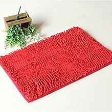 Das neue Quadrat wasserdicht Anti-Rutsch-Teppich Wasserabsorption Teppich Fußmatte Badezimmer Küche Schlafzimmer Teppich ( Farbe : B , größe : 70*140cm )