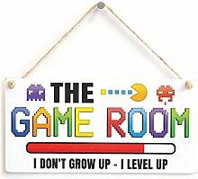 Das Spiel Raum I Don 't Grow Up–I LEVEL UP–Gaming Türschild tolle kleine Geschenkidee für Gamer