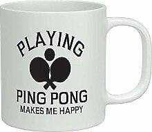 Das Spielen von Ping Pong macht mich glücklich