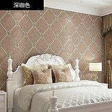 Das Wohnzimmer wallpaper Moderne extra dick 3D Vliestuch Wohnzimmer TV Hintergrund Tapete grün ,03