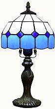 DASEXY Blaue Karierte Tischlampe European Creative