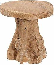 dasmöbelwerk Baumstamm massives Teak Holz Hocker