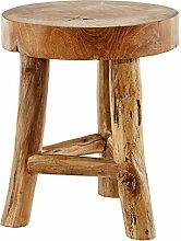 dasmöbelwerk Baumstamm Teak Hocker massiv Holz