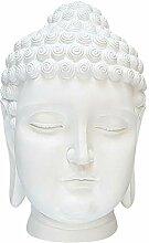 dasmöbelwerk Buddha-Figur Deko Kopf Groß Figur