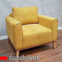 dasmöbelwerk Sessel Sitzmöbel Polstermöbel Sofa Skandinavisches Retro Design CAMPOS Senf