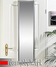 dasmöbelwerk Spiegel Wandspiegel Türspiegel Hängespiegel Rahmenspiegel Wand- und Tür Spiegel incl. Befestigungsmaterial Silber