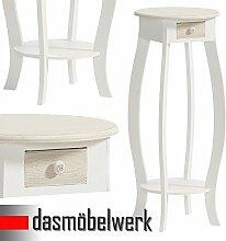 dasmöbelwerk Telefontisch Landhausmöbel Kleinmöbel mit Schublade Antikmöbel Ablage Tisch Anrichte weiss 05.014.01